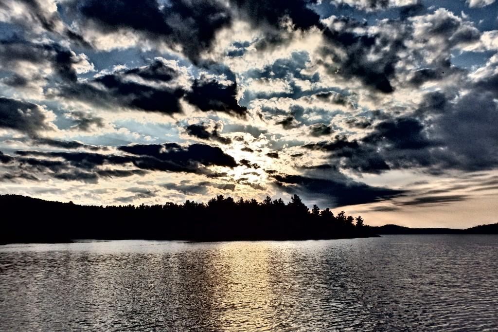 Sunrise over Covered Portage Cove.
