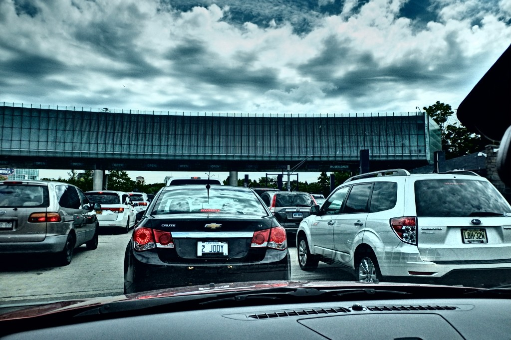 Bumper to bumper at the border.