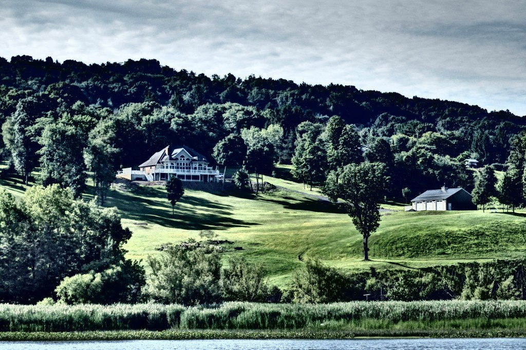 Beautiful estate overlooking the Hudson.
